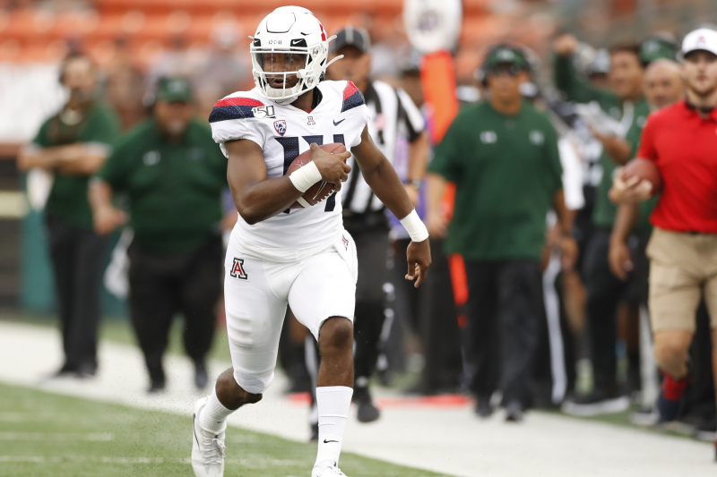 Highlights: Khalil Tate Makes Heroic, Last-Second Attempt for Arizona vs. Hawaii
