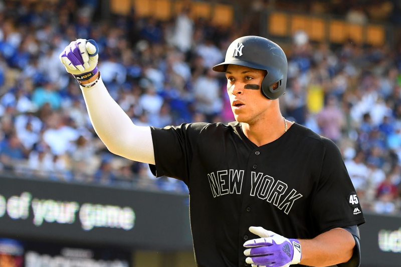 Video: Aaron Judge Delivers on Promise to Hit Home Run for Yankees Coach's Dad