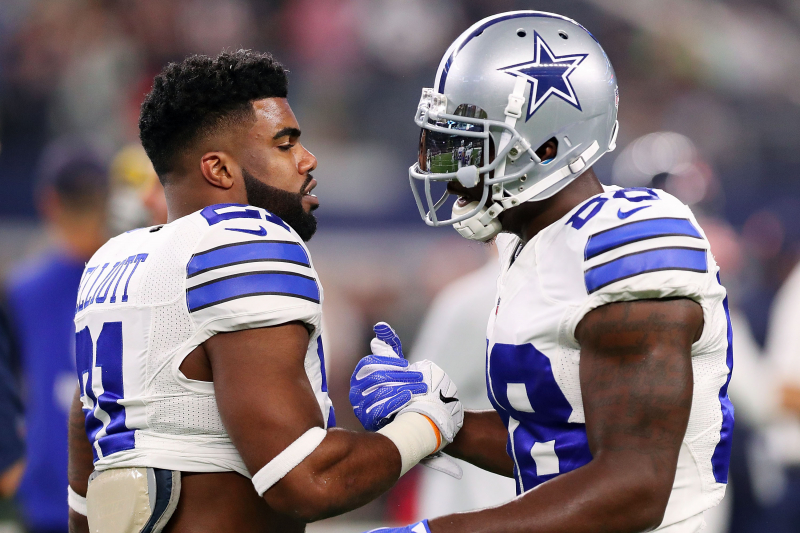 Dez Bryant Lends Support to Ezekiel Elliott During Holdout over Cowboys Contract