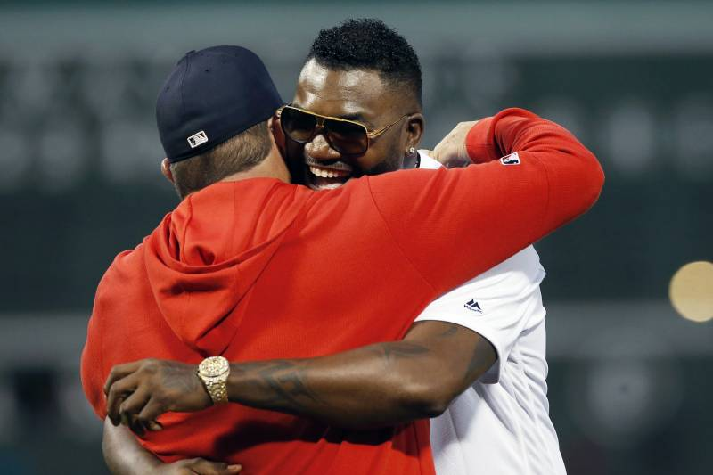 David Ortiz Throws 1st Pitch, Talks to Crowd Before Yankees vs. Red Sox