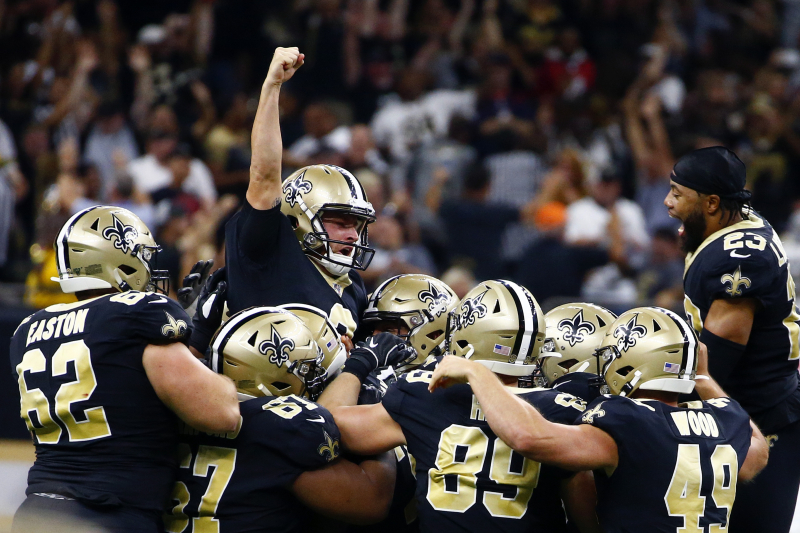 Watch Saints' Wil Lutz Drill Career-Long 58-Yard Walk-off FG to Beat Texans