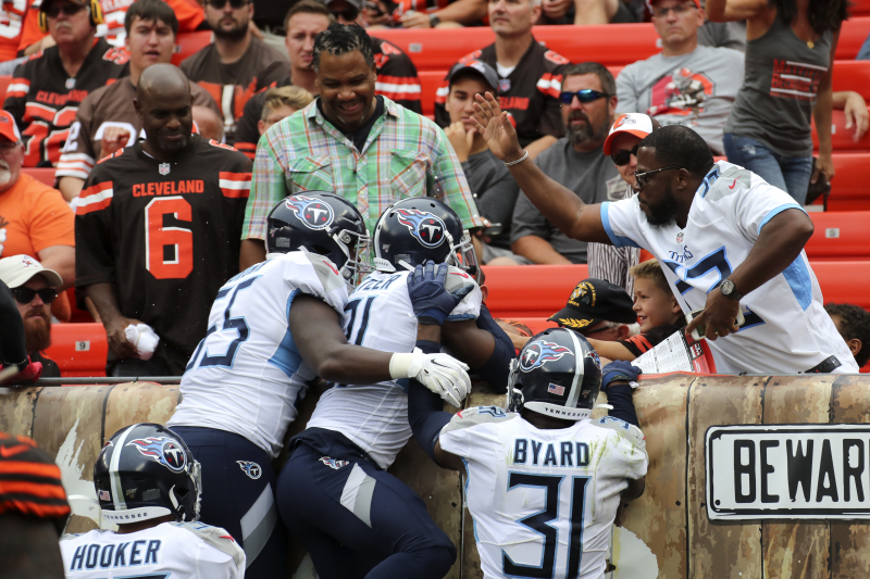 NFLPA Contacts NFL After Browns Fan Throws Beer at Titans Players in Week 1