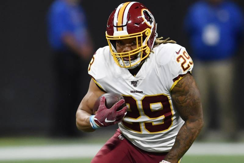 quality design 5fce7 2b106 Report: Derrius Guice Out Indefinitely After Redskins RB ...