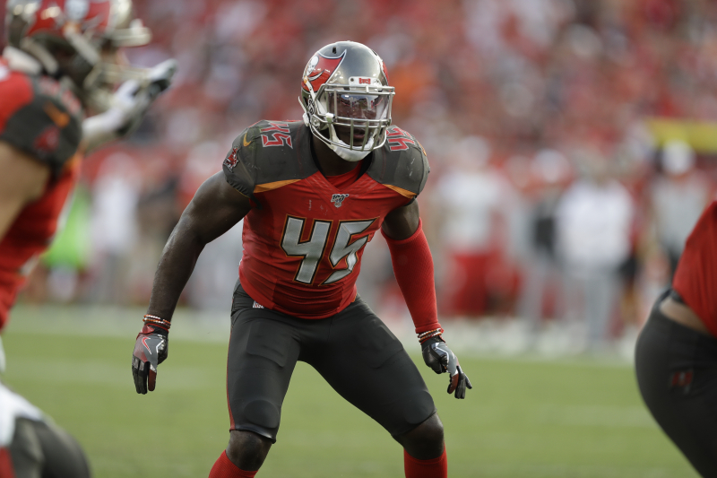 Buccaneers' Devin White Ruled out vs. Panthers After Suffering Knee Injury