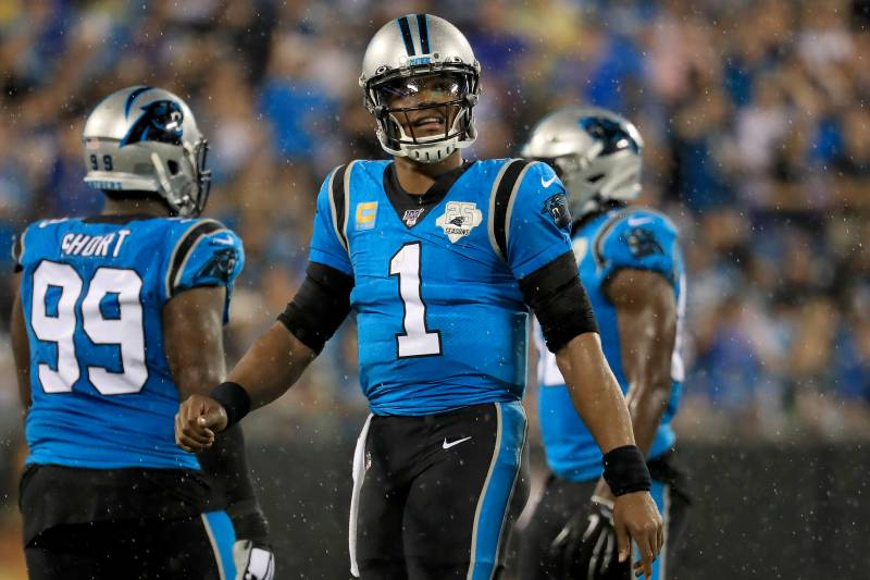 size 40 9d6a9 93fae Panthers' Ron Rivera: Cam Newton's Shoulder, Foot Injuries ...