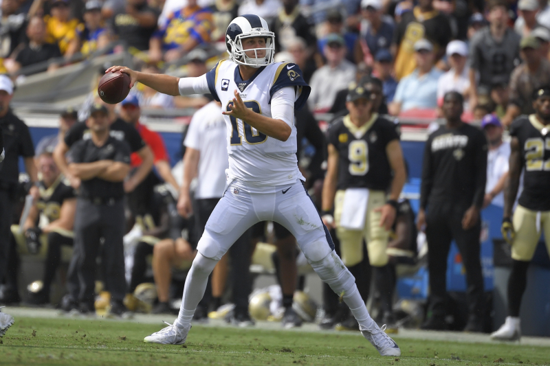 Jared Goff Leads Rams to Blowout Win vs. Saints; Drew Brees Suffers Hand Injury