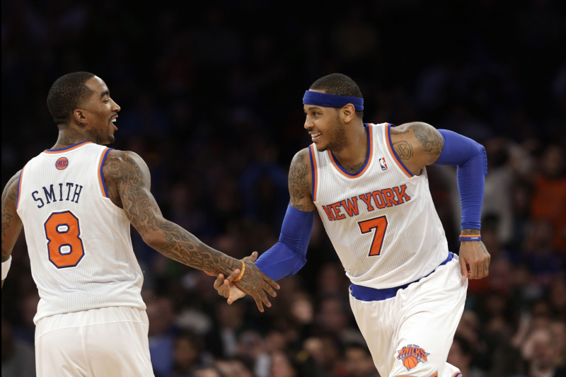 Weighing Carmelo Anthony vs. JR Smith as NBA Free Agents