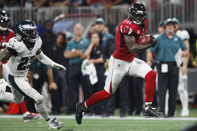 Julio Jones Plays Hero for Atlanta Falcons in Historic Night Against Eagles