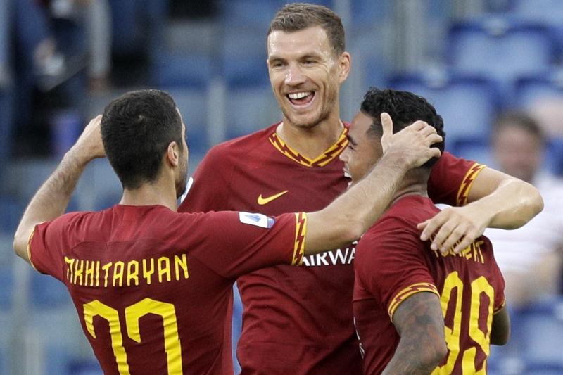 Edin Dzeko Hopes Henrikh Mkhitaryan Can Stay at Roma Beyond Arsenal Loan