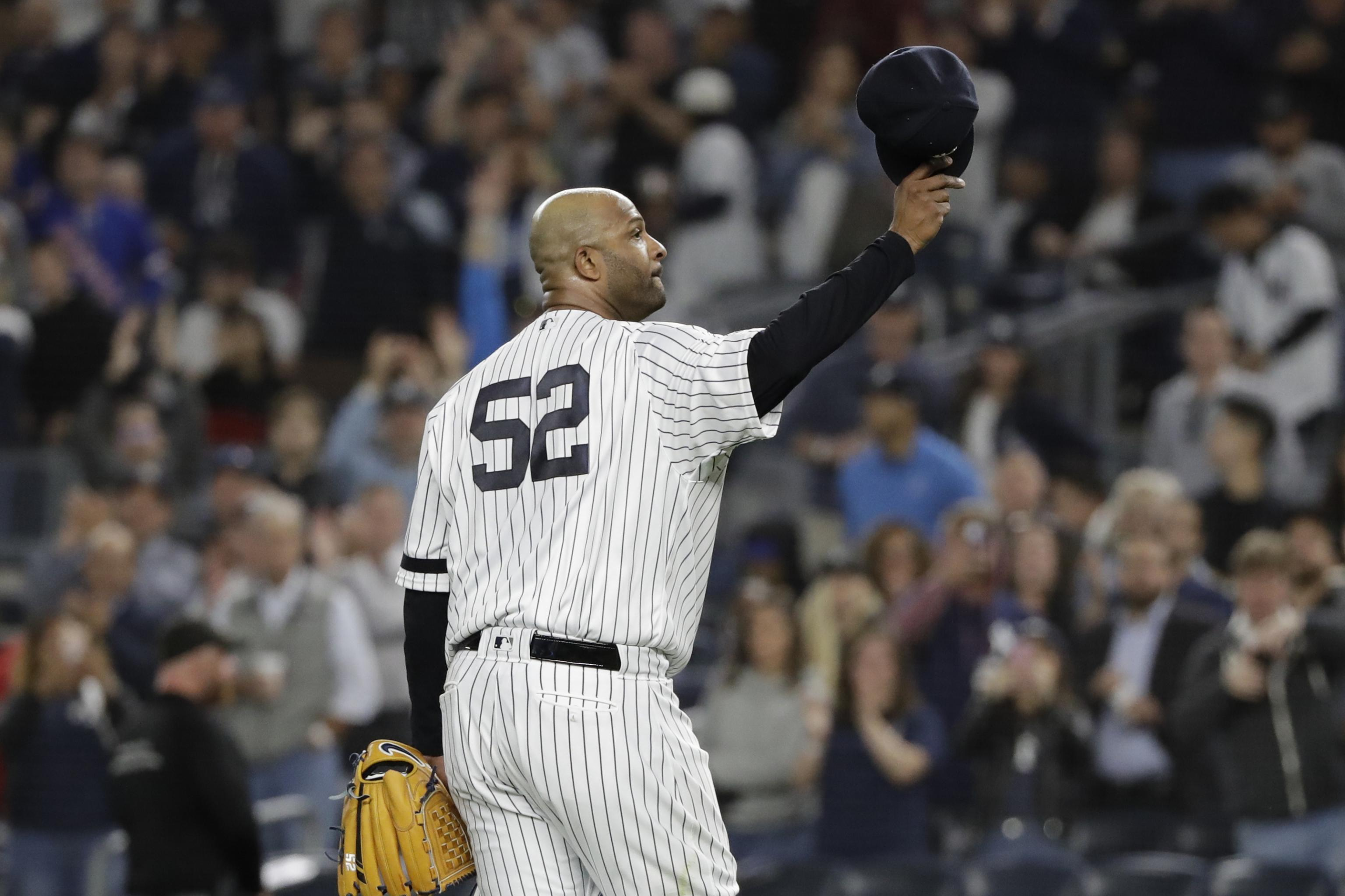 hot sale online 598a2 10816 Watch Yankees' CC Sabathia Get Standing Ovation After Likely ...
