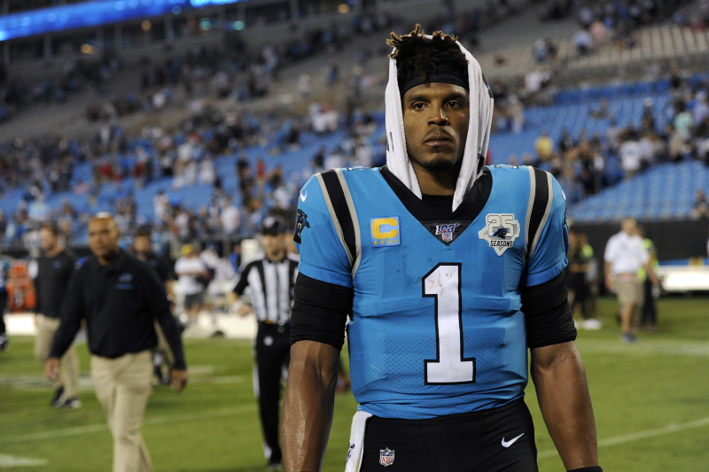Cam Newton Out of Panthers Practice with Injury, Unlikely to Play vs. Cardinals