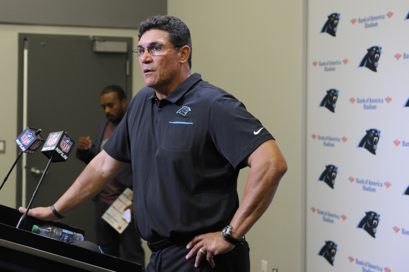 Panthers' Ron Rivera Walks Out of Press Conference over Cam Newton Questions