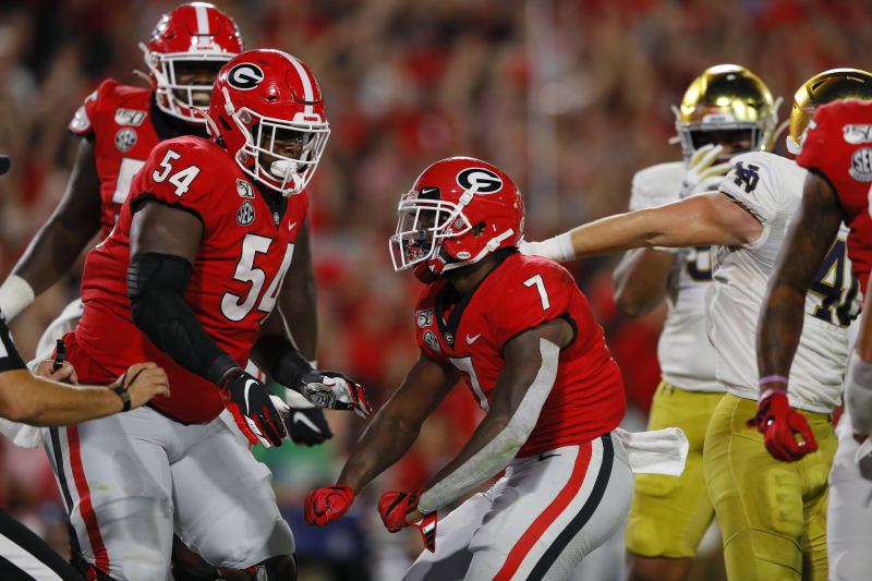 Jake Fromm, No. 3 Georgia Outlast Ian Book, No. 7 Notre Dame in 23-17 Win