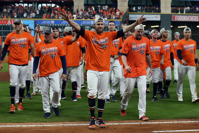 Video: Watch Astros Celebrate with Champagne Showers After Clinching AL West