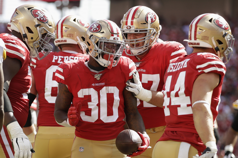 49ers' Matt Breida, Raheem Mostert, Jeff Wilson Jr. Fantasy Outlook After Week 3