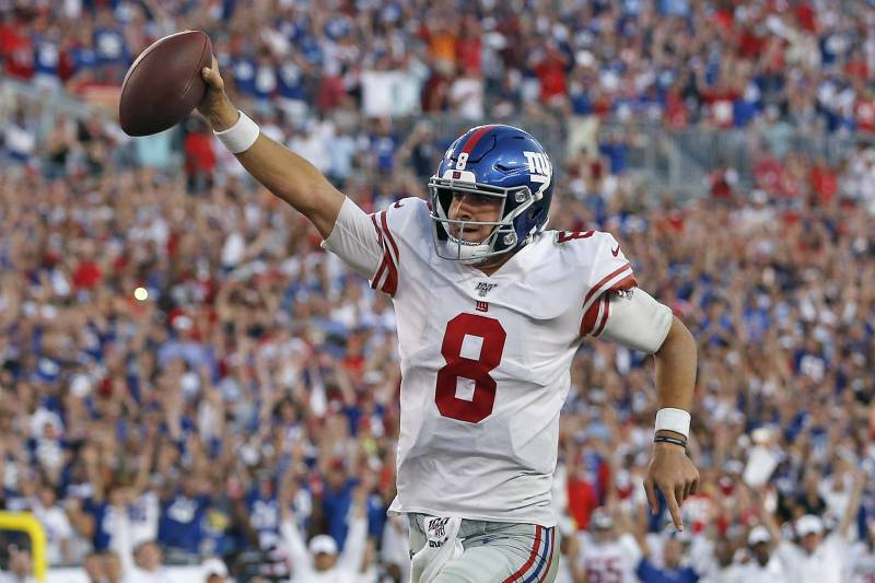 Image result for daniel jones giants celebrating