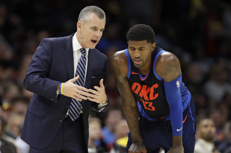 Thunder HC Billy Donovan 'Was Taken Back' by Paul George Trade to Clippers