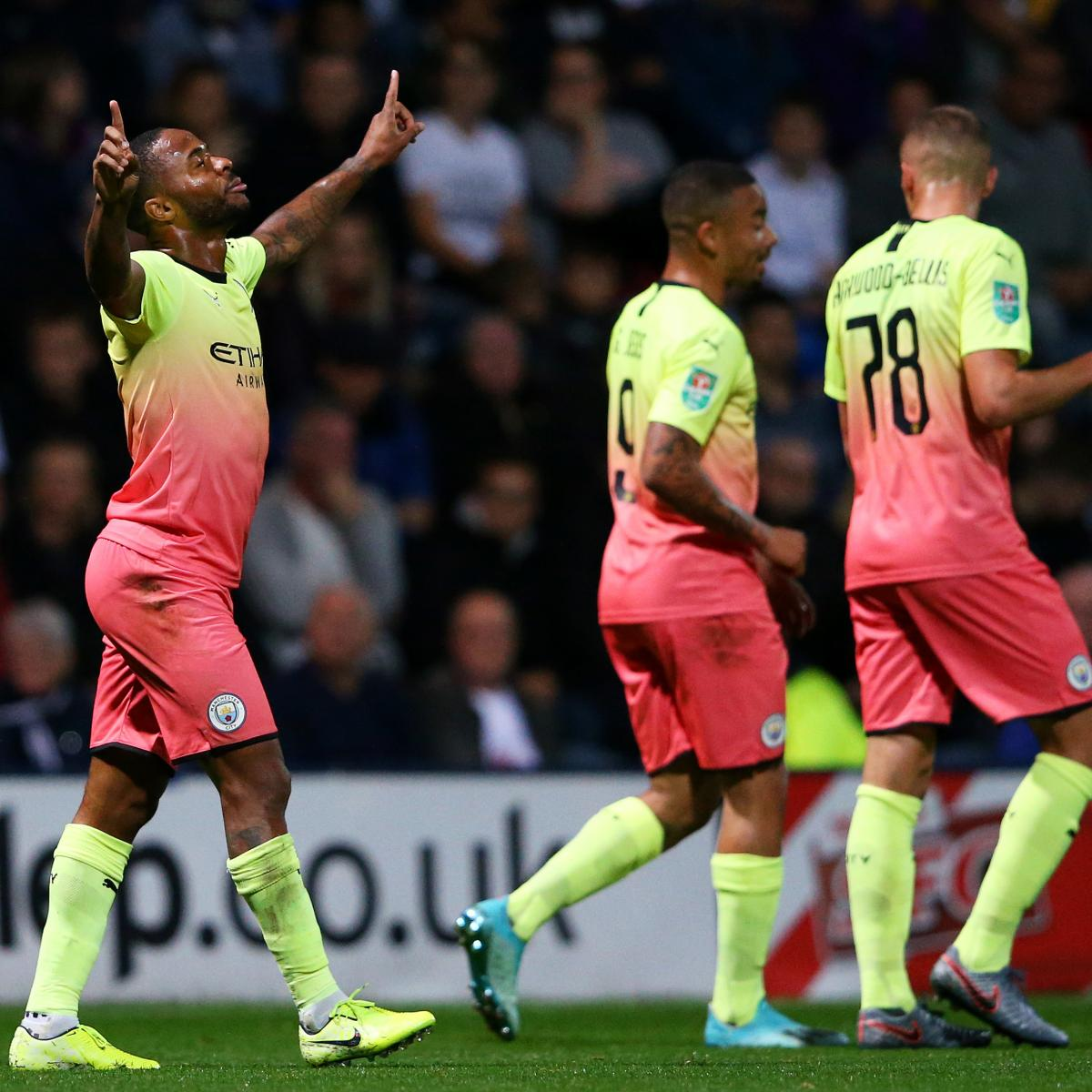 Raheem Sterling Scores, Manchester City Cruise Past Preston North End in EFL Cup