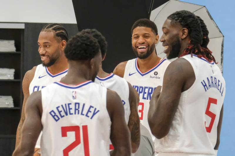 Best Hair Clippers 2020.Clippers Media Day 2019 Kawhi Leonard Paul George And Top