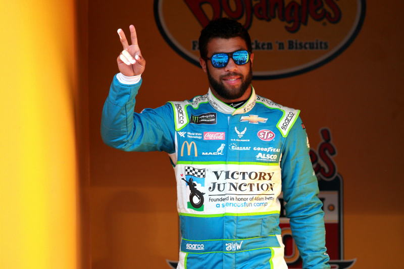 Video: NASCAR's Bubba Wallace Calls Alex Bowman a 'B---h', Throws Drink at Him