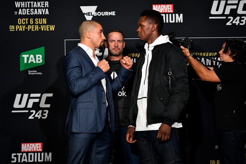 UFC 243 Fight Card: PPV Schedule, Odds, Predictions for Whittaker vs. Adesanya
