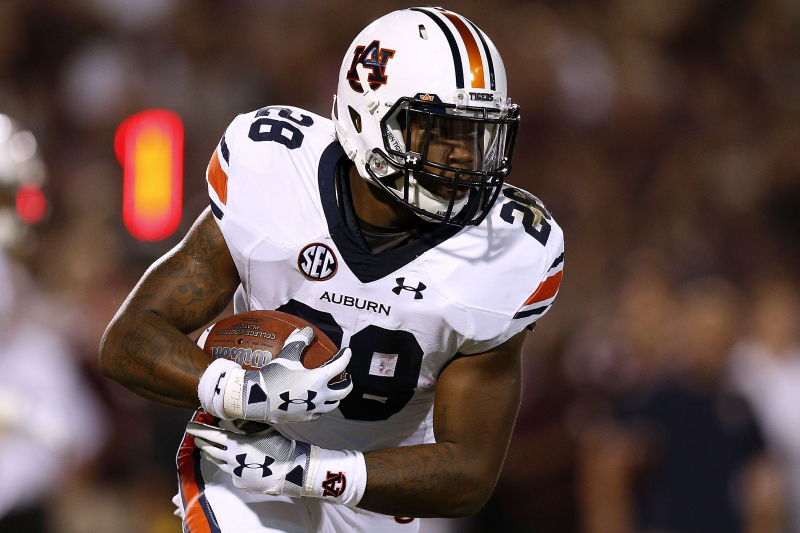 Auburn RB JaTarvious 'Boobee' Whitlow out 4-6 Weeks After Surgery on Knee Injury
