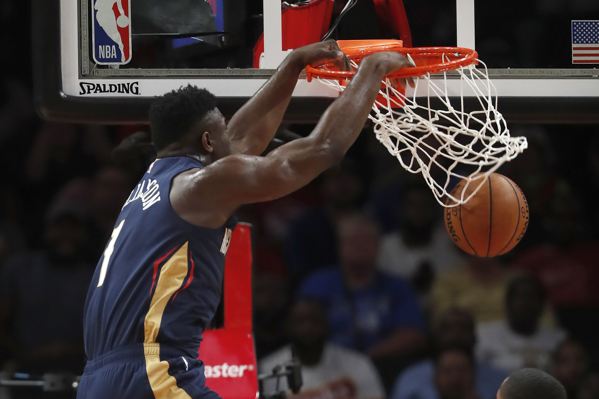Image result for zion williamson pelicans dunk
