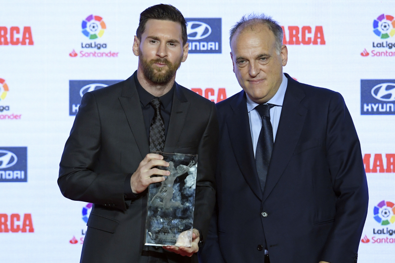 Javier Tebas: Lionel Messi the Best in Football, 'Several Steps Ahead Of' Neymar