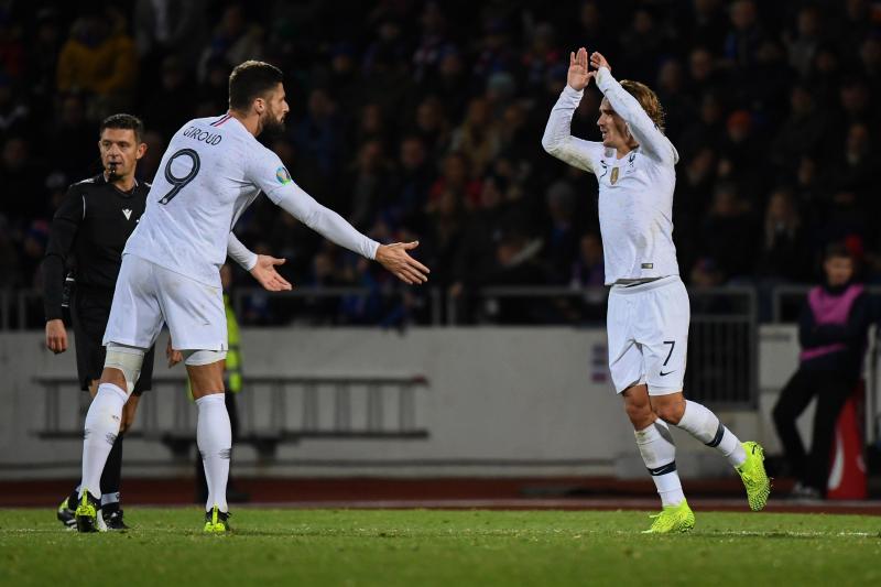 France Beat Iceland 1-0 in 2020 Euro Qualifier Behind Olivier Giroud Penalty
