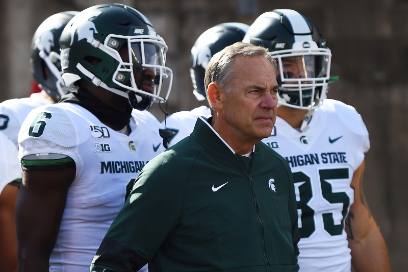 MSU's Mark Dantonio Rips 'Dumb-Ass Question' About Offensive Coaches, Struggles