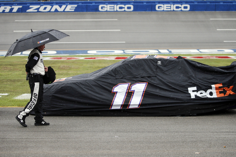 Rain Delays NASCAR at Talladega Playoff Race After Stage 1; Resuming on Monday
