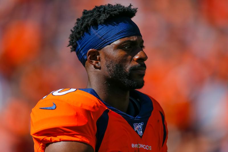 'Optimism' Broncos' Emmanuel Sanders Plays in Week 7 After Suffering Knee Injury