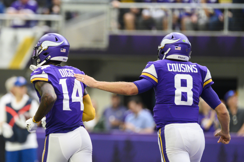 Kirk Cousins Jokes He Considered Apologizing to Stefon Diggs After Missed Throw