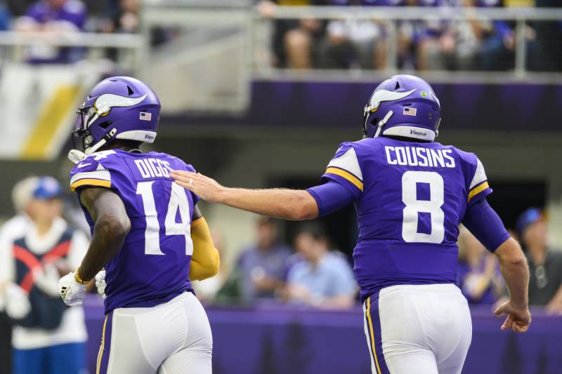 Image result for kirk cousins stefon diggs