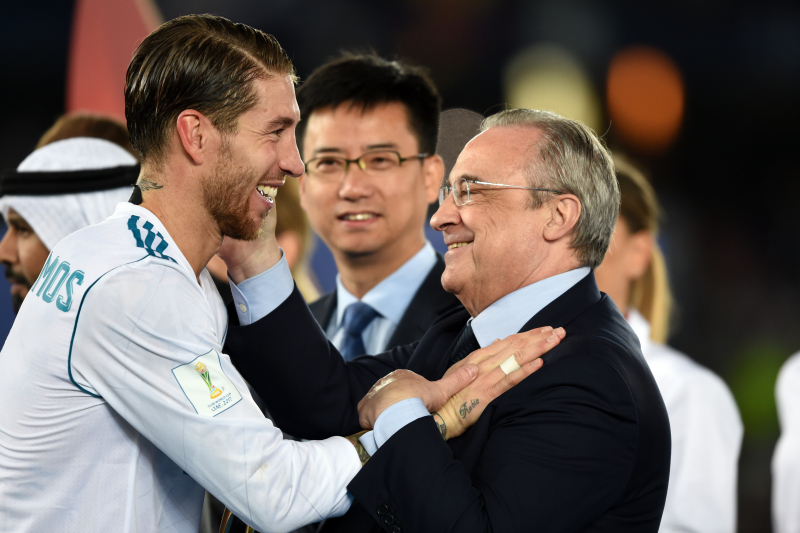 Florentino Perez Says 'Sergio Ramos Legend Will Continue' After Record Spain Cap