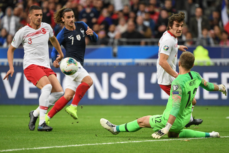 France Held to 1-1 Home Draw by Turkey in Euro 2020 Qualifier