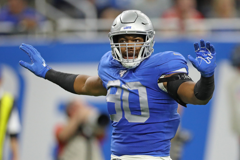 Lions' Trey Flowers on Refs: 'Didn't Think Hands to the Chest Was a Penalty'