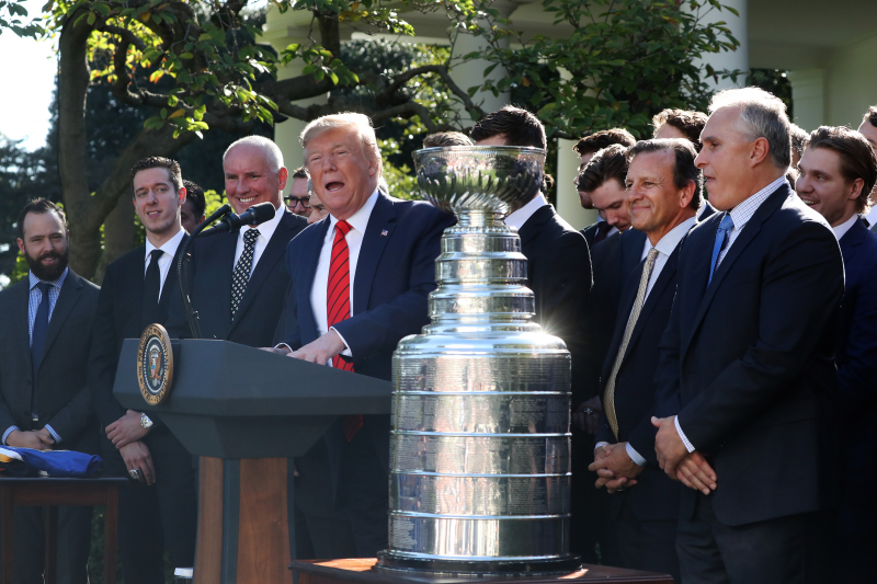 Video: Stanley Cup Champion St. Louis Blues Visit Donald Trump at White House
