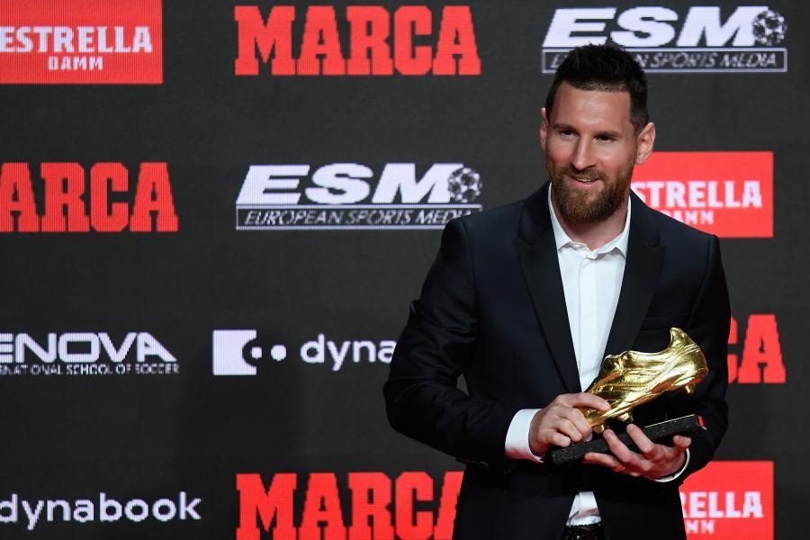 Cả nhà Messi đi nhận giải Giày vàng châu Âu
