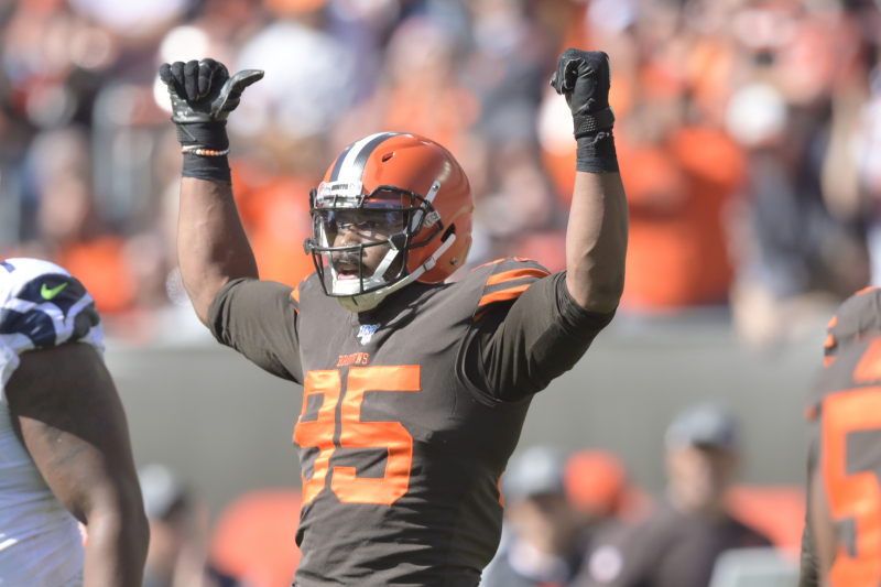 Browns' Myles Garrett Says 'Fan' Asked for Picture, Punched Him in the Face
