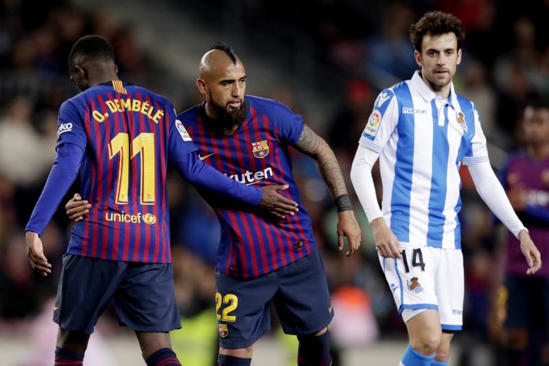 Arturo Vidal Says Ousmane Dembele Must 'Be Better Prepared to Avoid Injuries'