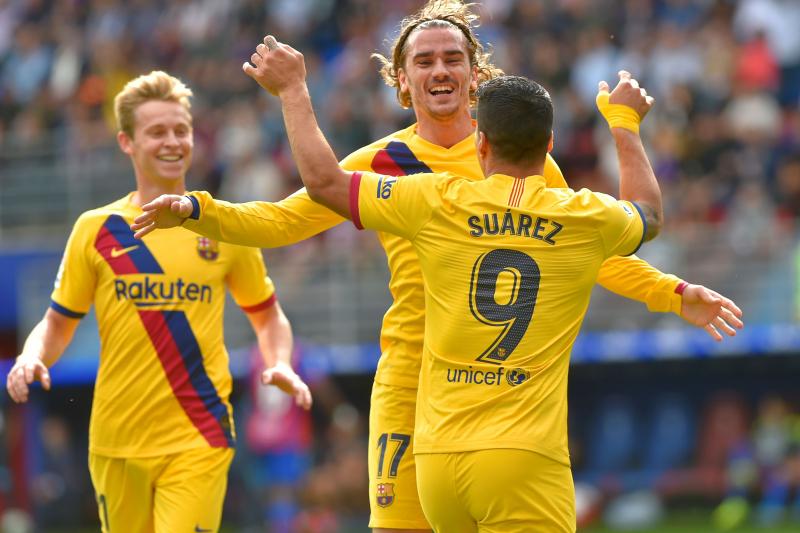 Lionel Messi, Antoine Griezmann, Luis Suarez Score in Barcelona's Win vs. Eibar