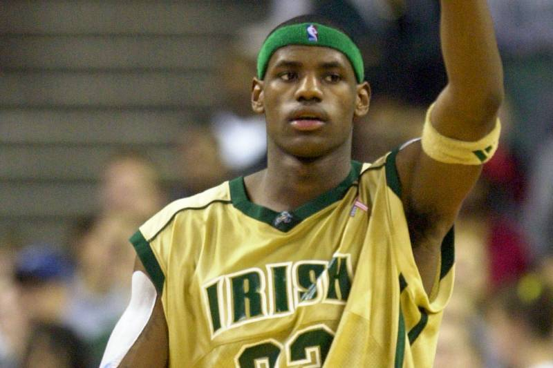 Image result for lebron james in high school