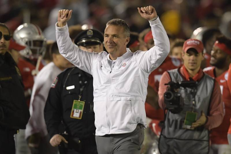 Image result for images of willie taggart and urban meyer