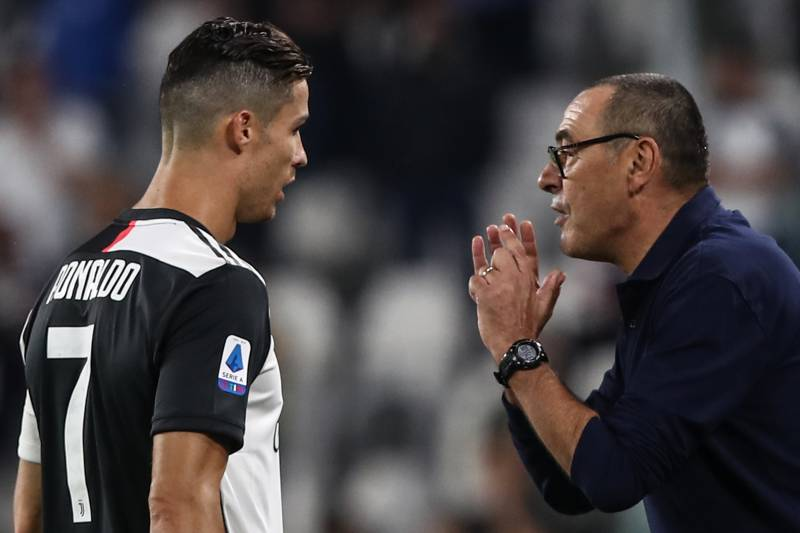 Image result for sarri and ronaldo