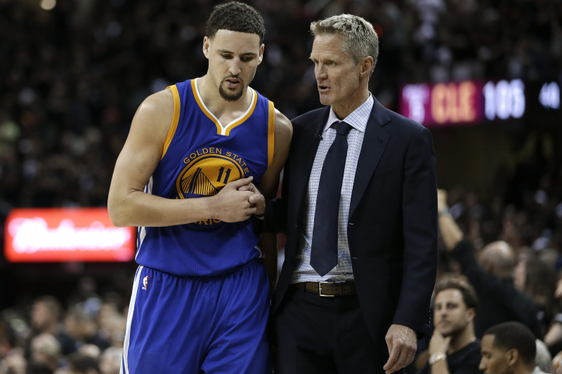 Steve Kerr: Warriors' Klay Thompson 'Unlikely' to Return This Season from Injury