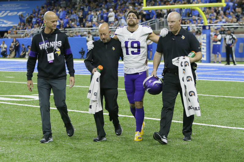 Stefon Diggs, Kyle Rudolph, Vikings Fantasy Outlook After Adam Thielen's Injury