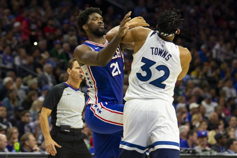 76ers Joel Embiid Timberwolves Karl Anthony Towns