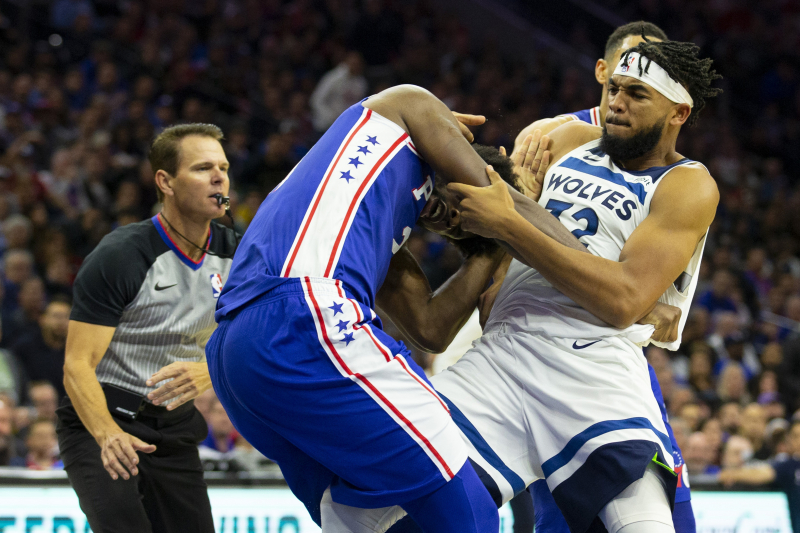 Charles Barkley Calls Joel Embiid, Karl-Anthony Towns Fight 'A Snuggle Party'