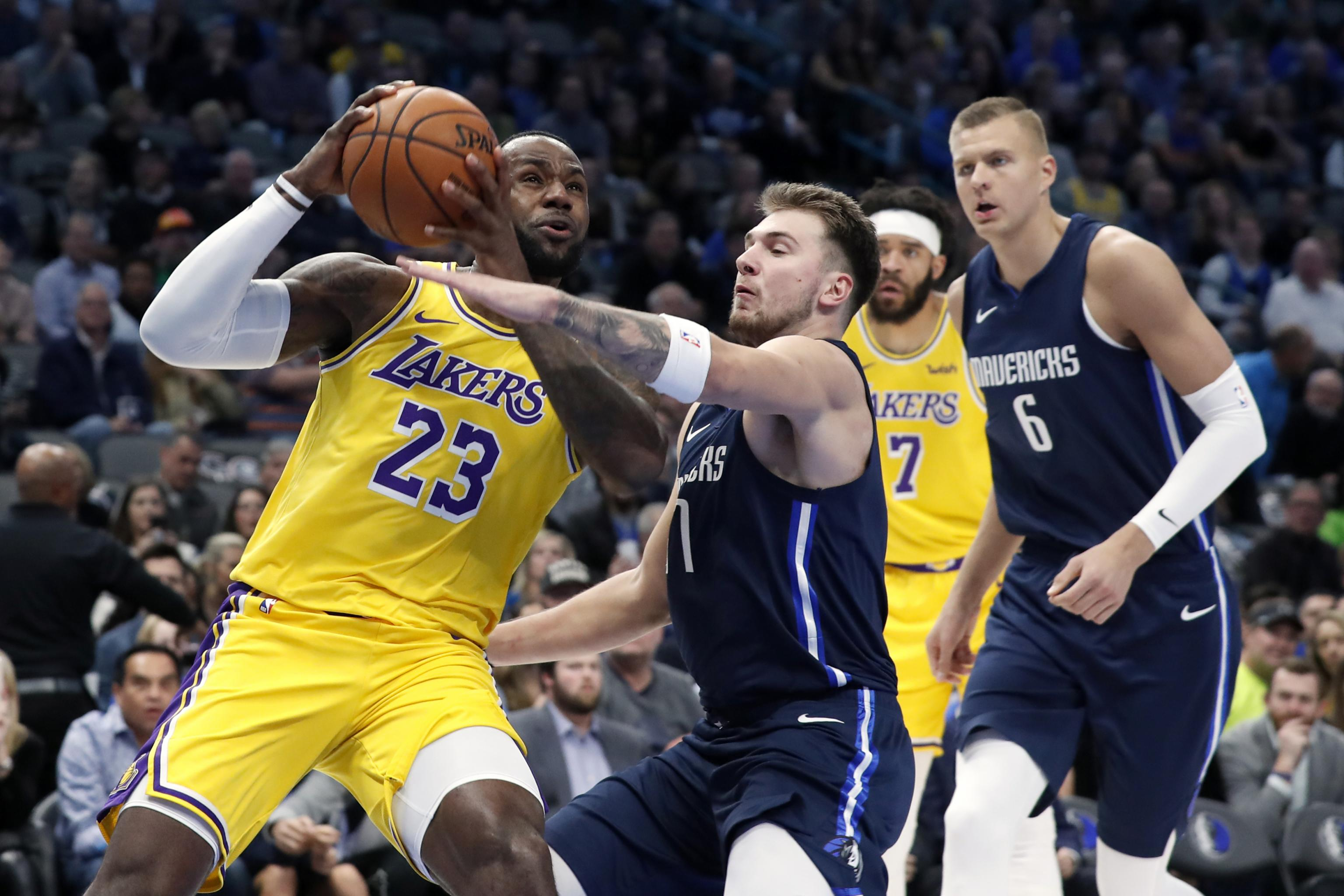 Lebron James Luka Doncic Triple Double As Lakers Outlast